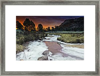 Sunrise Over Sheep Lakes Framed Print by Tom Wilbert