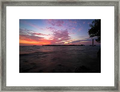 Sunrise Over South Bass Island Framed Print by Haren Images- Kriss Haren