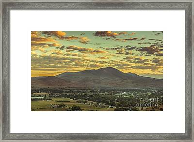 Sunrise Over Squaw Butte Framed Print