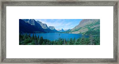 Sunrise Over St. Mary Lake, Glacier Framed Print by Panoramic Images