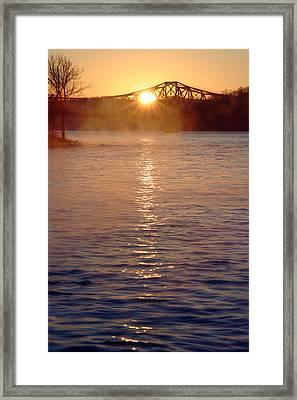 Sunrise Over Table Rock Framed Print