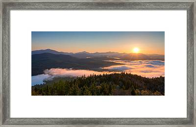 Sunrise Over The Adirondack High Peaks Framed Print by Panoramic Images