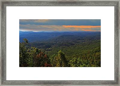 Sunrise Over The Appalachian Mountains Framed Print by Dan Sproul