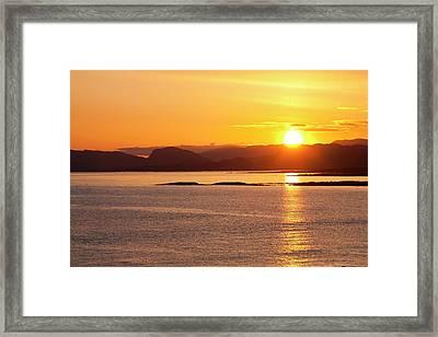 Sunrise Over The Applecross Mountains Framed Print