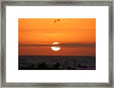 Sunrise Over The Atlantic Framed Print