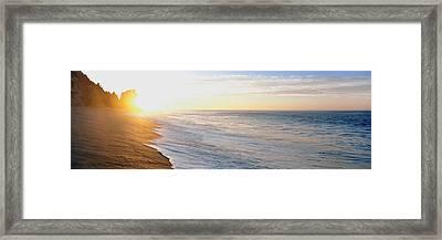 Sunrise Over The Beach, Lands End, Baja Framed Print