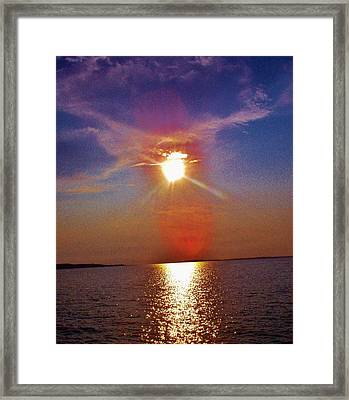 Framed Print featuring the photograph Sunrise Over The Big Mac by Daniel Thompson