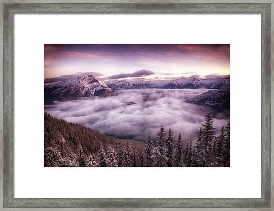 Sunrise Over The Canadian Rockies Framed Print by Diane Dugas