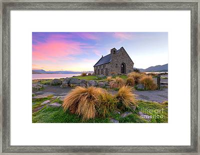 Sunrise Over The Church Of The Good Sheperd Framed Print by Bill  Robinson