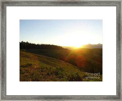 Sunrise Over The Cimarrons Framed Print