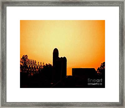 Sunrise Over The Farm Framed Print by Timothy Clinch