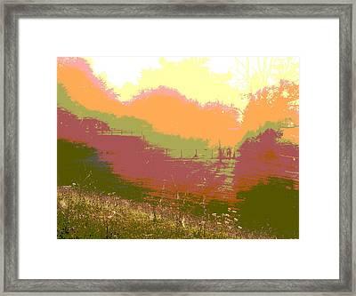 Sunrise Over The Field Framed Print
