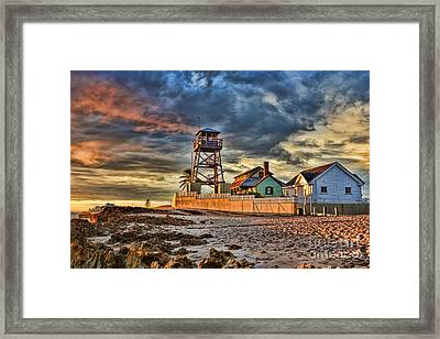 Sunrise Over The House Of Refuge On Hutchinson Island Framed Print