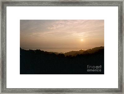 Sunrise Over The Illinois River Valley Framed Print