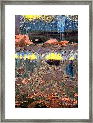 Sunrise Over The Lake Abstract Framed Print by Lee Craig