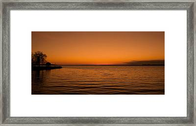Sunrise Over The Lake Of Two Mountains - Qc Framed Print by Juergen Weiss