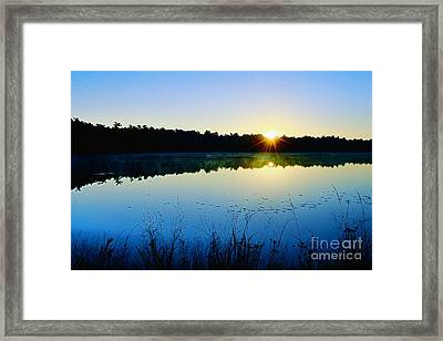 Sunrise Over The Lake Framed Print