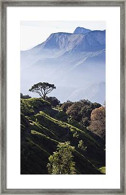 Sunrise Over The Majestic Western Ghats Framed Print by Heather Elton