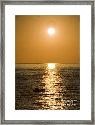 Sunrise Over The Mediterranean Framed Print by Jim  Calarese