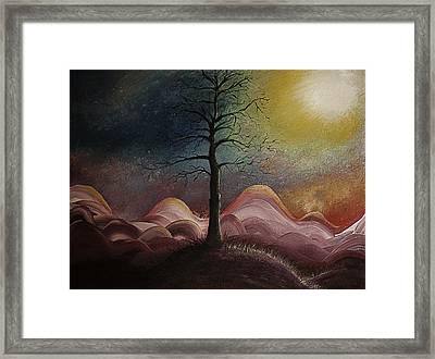 Sunrise Over The Mountains Framed Print