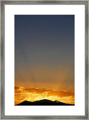 Sunrise Over The Mountains In Kyrgyzstan Framed Print by Robert Preston