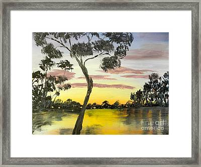 Sunrise Over The Murray River At Lowson South Australia Framed Print