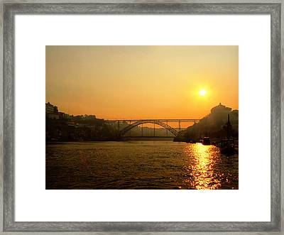 Sunrise Over The River Framed Print