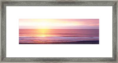 Sunrise Over The Sea, Kauai, Hawaii Framed Print by Panoramic Images