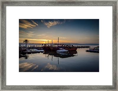 Sunrise Over The Sea Of Galilee Framed Print