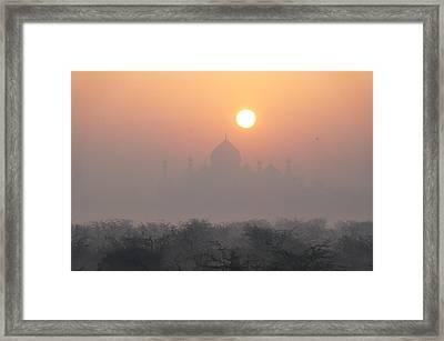 Sunrise Over The Taj Framed Print