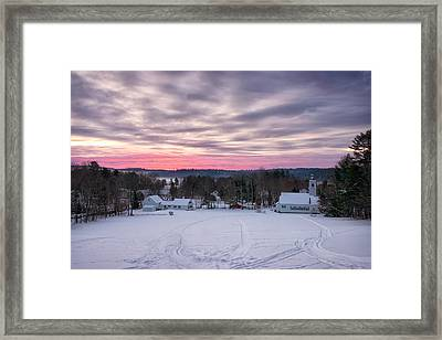 Sunrise Over The Village Framed Print by Darylann Leonard Photography