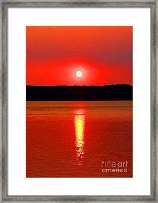 Sunrise Over Whidbey Island Framed Print