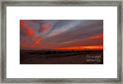 Sunrise Over Yuma Framed Print by Robert Bales
