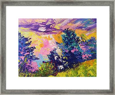 Sunrise Painting Oil On Canvas Ekaterina Chernova Framed Print