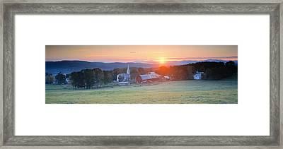 Sunrise Peacham Vt Usa Framed Print by Panoramic Images