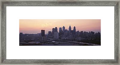 Sunrise Philadelphia Pa Usa Framed Print by Panoramic Images