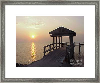 Sunrise Pier 1 Framed Print