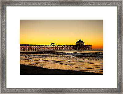 Sunrise Pier Folly Beach Sc Framed Print