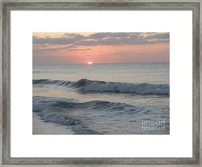 Sunrise Framed Print by Polly Anna