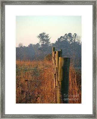 Sunrise Post Framed Print by Reid Callaway