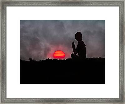 Sunrise Prayer Framed Print by Betsy Knapp