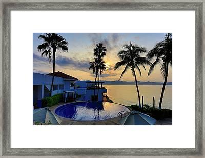 Sunrise, Punta Serena Villas And Spa Framed Print by Douglas Peebles