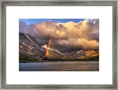 Sunrise Rainbow Framed Print by Mark Kiver