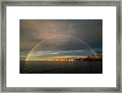 Sunrise Rainbow Framed Print
