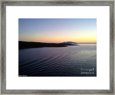 Framed Print featuring the photograph Sunrise by Ramona Matei