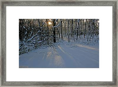 Sunrise Reflected On Snow Framed Print