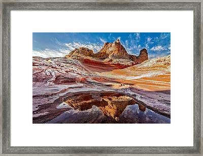 Sunrise Reflection At White Pocket Az Framed Print
