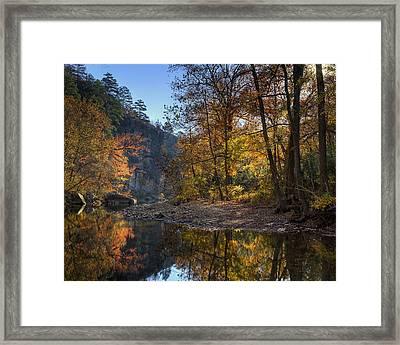 Sunrise Reflection Below Kyles Landing Framed Print by Michael Dougherty