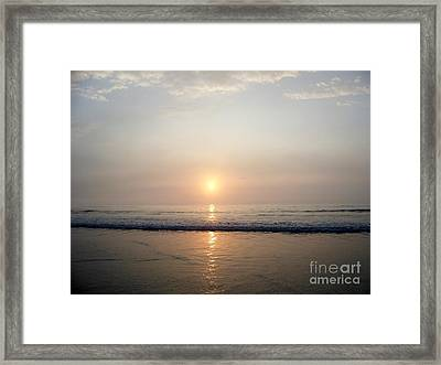 Sunrise Reflection Shines Upon The Atlantic Framed Print by Eunice Miller