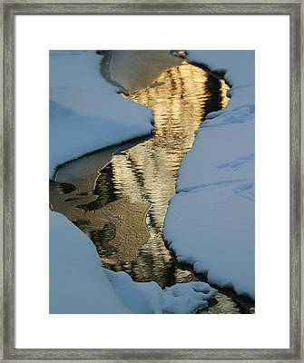 Sunrise Reflection Winter River Framed Print by Dan Sproul